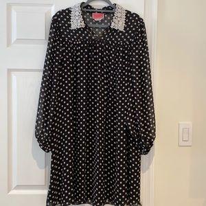 Kate spade black and white dress